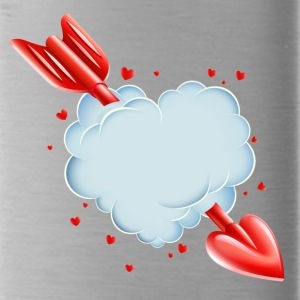 Valentine s Day Cloud Heart love tshirt - Water Bottle