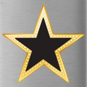 Gold and Black Star - Water Bottle