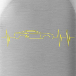 5th Generation Camaro Heartbeat Yellow - Water Bottle