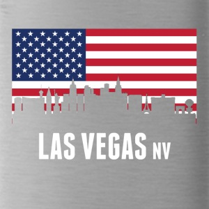 American Flag Las Vegas Skyline - Water Bottle