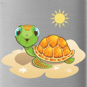 turtle sand sun reptile wildlife animal - Water Bottle