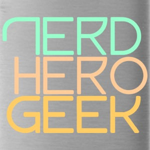 Nerd hero geek pastel - Water Bottle