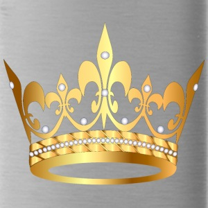 golden crown pearl VIP jewels monarch cool art - Water Bottle