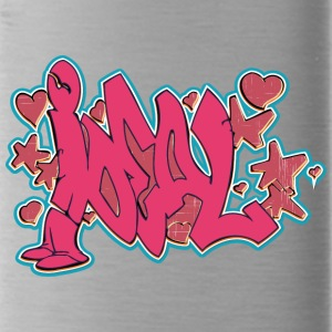 ideal_graffiti_red - Water Bottle