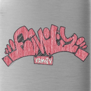 family_graffiti_red - Water Bottle