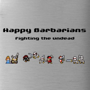 Happy Barbarians - fighting the undead - Water Bottle