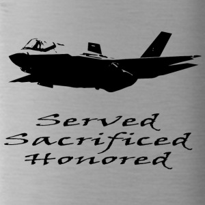 Airforce Served Sacrificed Honored - Water Bottle