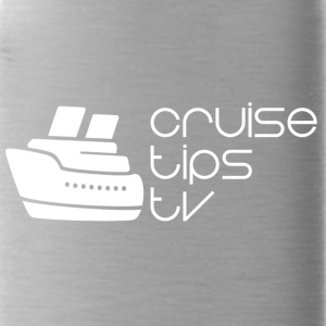 CruiseTipsTV Logo White - Mike's Style - Water Bottle