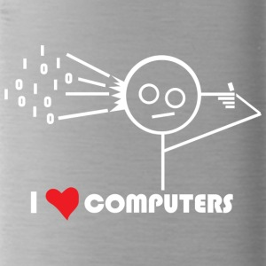 I Love Computers - Water Bottle