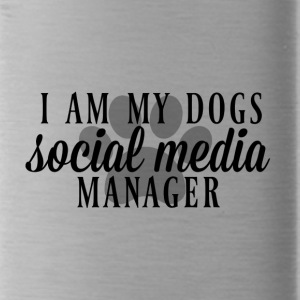 I am my dogs social media manager - Water Bottle