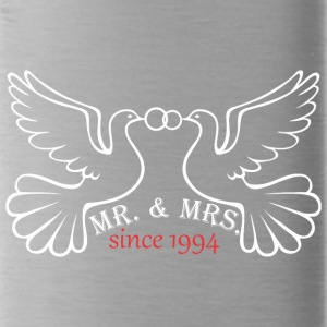 Mr And Mrs Since 1994 Married Marriage Engagement - Water Bottle
