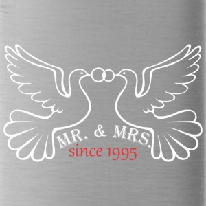 Mr And Mrs Since 1995 Married Marriage Engagement - Water Bottle