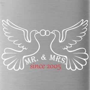 Mr And Mrs Since 2005 Married Marriage Engagement - Water Bottle
