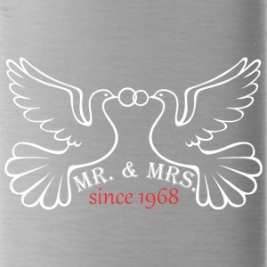 Mr And Mrs Since 1968 Married Marriage Engagement - Water Bottle