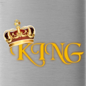 GOLD KING CROWN WITH YELLOW LETTERING - Water Bottle