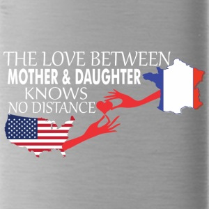 Mother & Daughter Knows No Distance US & France - Water Bottle