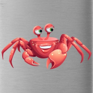 cool smile crab shell sea ocean wildlife - Water Bottle