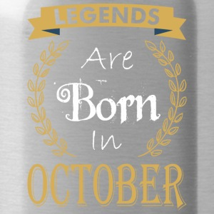 Legend Are Born In October - Water Bottle