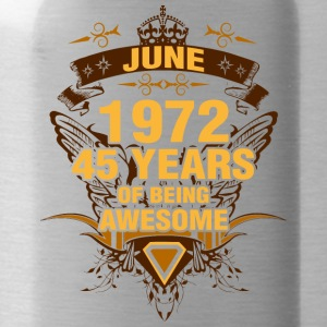 June 1972 45 Years of Being Awesome - Water Bottle