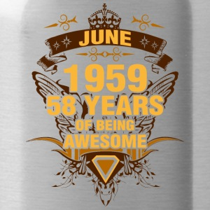 June 1959 58 Years of Being Awesome - Water Bottle