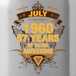 July 1960 57 Years of Being Awesome - Water Bottle