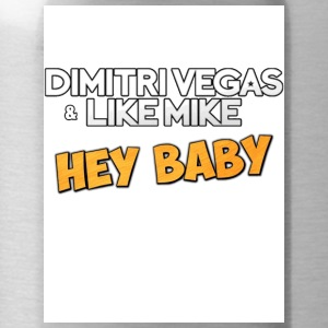Dimitri Vegas and Like Mike - Hey Baby white - Water Bottle