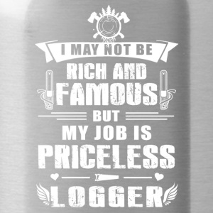 My job is priceless Logger T-Shirt - Water Bottle
