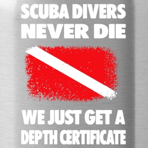 Scuba Diving Depth Certificate Tee Shirts - Water Bottle