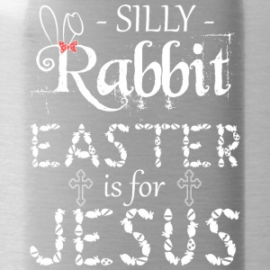 silly rabbit easter is for jesus - Water Bottle