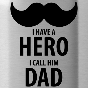 I have a HERO, I call him DAD - Water Bottle