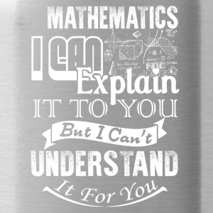 Mathematics Shirt - Water Bottle