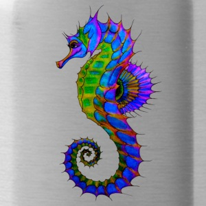 Vibrant Colored Seahorse - Water Bottle