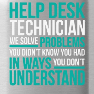 Help Desk Technician T Shirt - Water Bottle