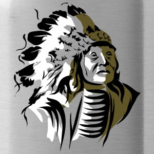 old_indian_chief - Water Bottle