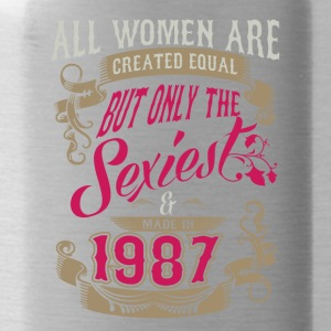 Women Created Equal Only Sexiest Are Made In 1987 - Water Bottle