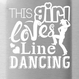 This Girl Loves Line Dancing Shirts - Water Bottle