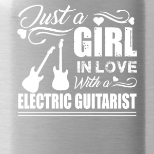 Girl In Love With Electric Guitarist Shirt - Water Bottle