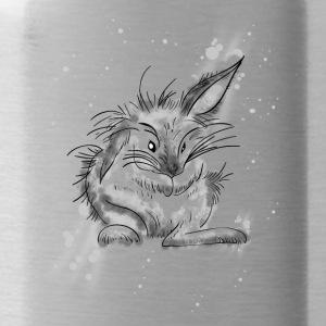 rabbit cute funny love eastern girl grawing lol an - Water Bottle