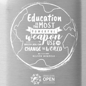 Education is the most powerful weapon (White) - Water Bottle