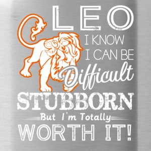 Leo Difficult Stubborn But Totally Worth It - Water Bottle