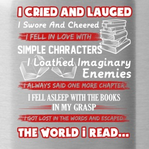 I Read Book Shirt - Water Bottle