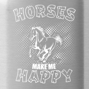 HORSES MAKE ME HAPPY - Water Bottle