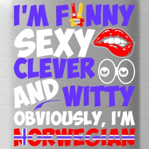 Im Funny Sexy Clever And Witty Im Norwegian - Water Bottle