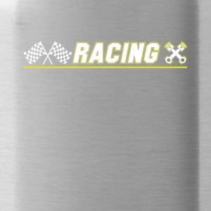 Cool Graphic Racing Tee Shirts - Water Bottle