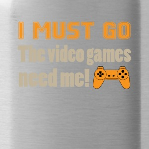 I Must Go The Video Games Tee Shirt - Water Bottle