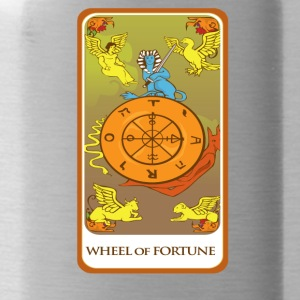 Wheel Of Fortune Tarot Card Tee Shirt - Water Bottle