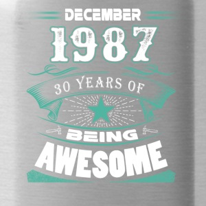 December 1987 - 30 years of being awesome - Water Bottle