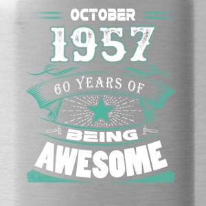 October 1957 - 60 years of being awesome - Water Bottle