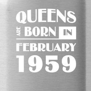 Queens are born in February 1959 - Water Bottle