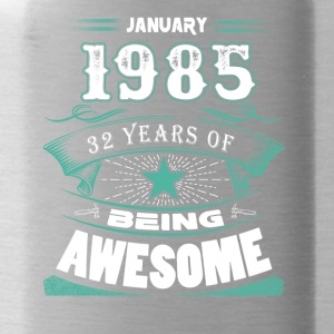 January 1985 - 32 years of being awesome (v.2017) - Water Bottle